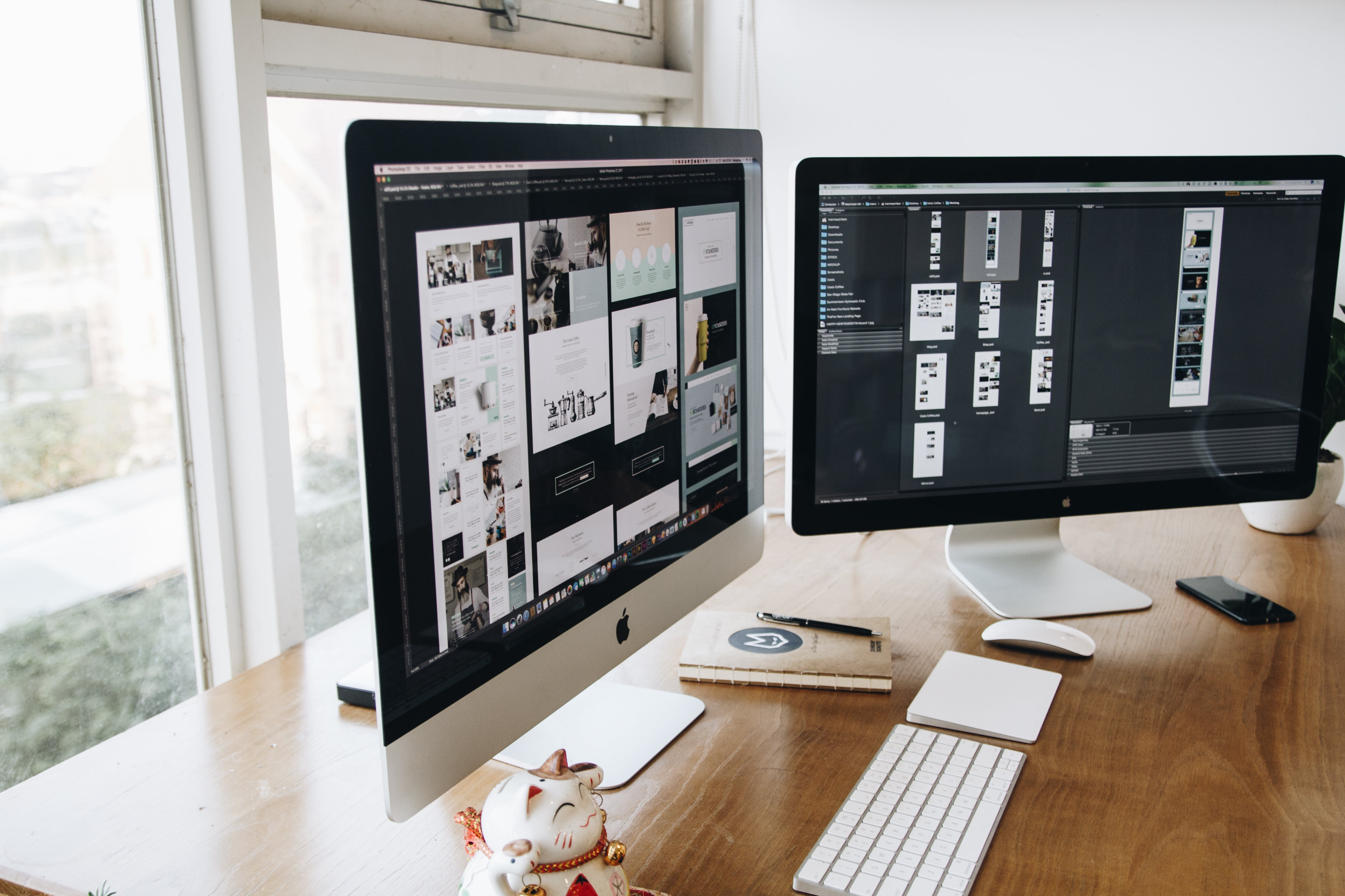 Kostenloses Stock Foto zu apfel, arbeiten, arbeitsplatz, bildschirm