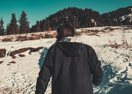 คลังภาพถ่ายฟรี ของ ภูเขา, วิว, หิมะ, เด็กสาว