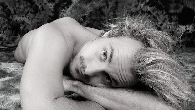 Portrait of Man Lying Down