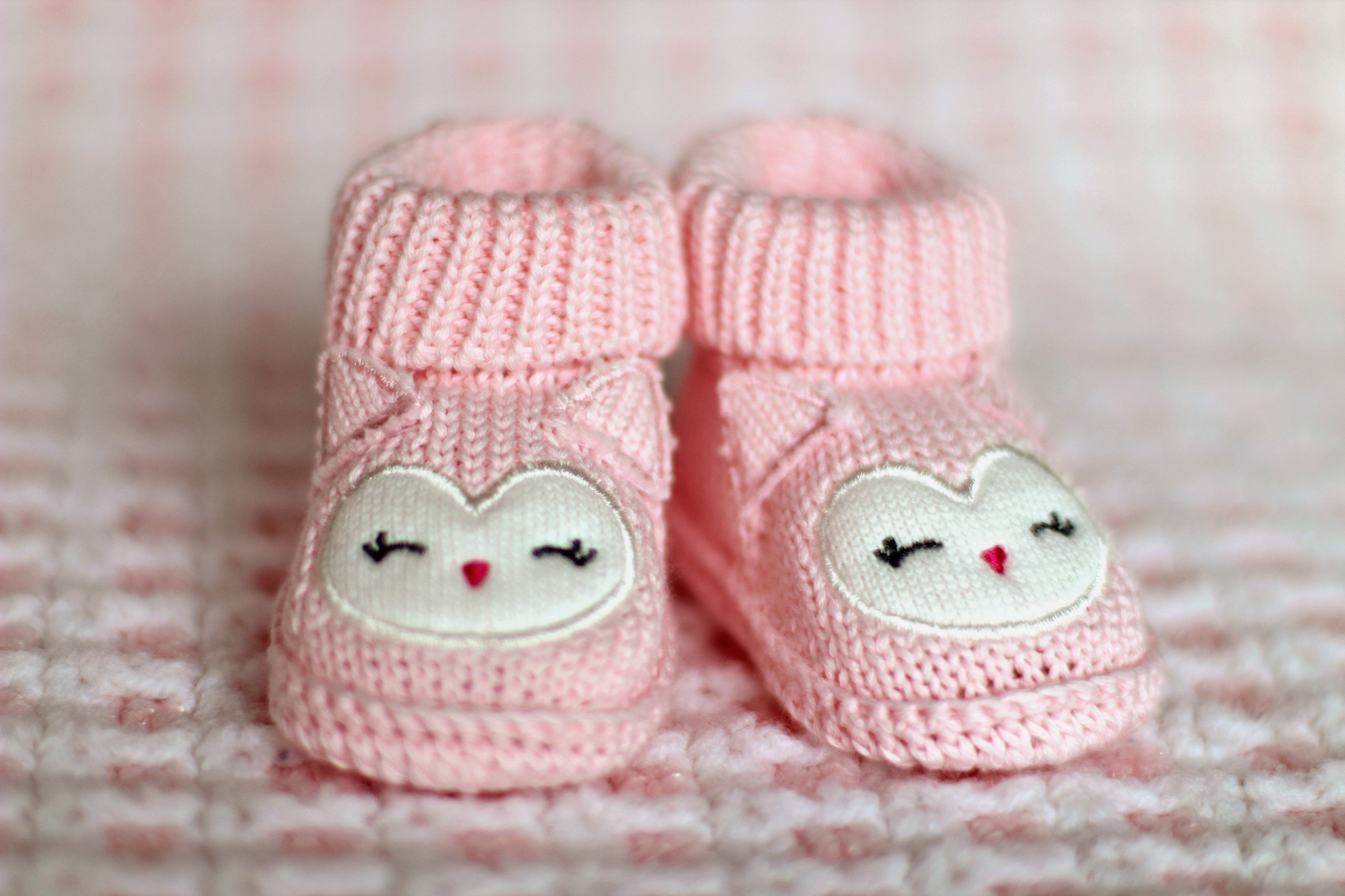 Close-up of Pink Baby Booties