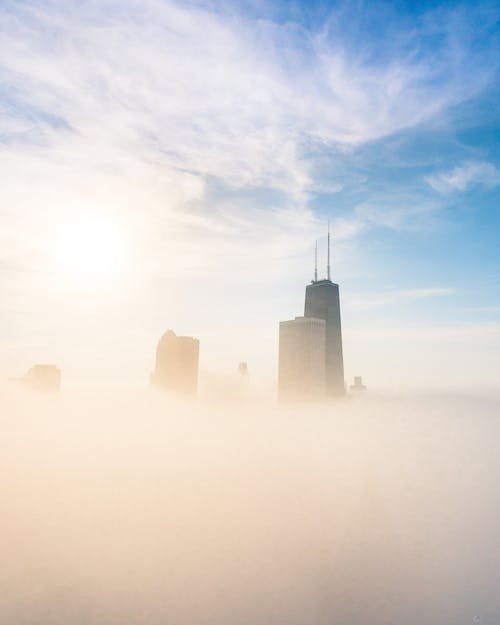 Free stock photo of chicago, cityscape, creative photography, foggy