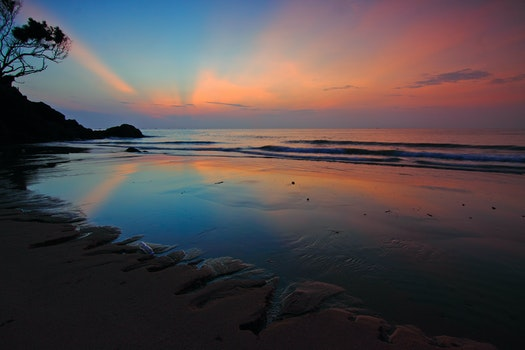 Free stock photo of light, sea, dawn, landscape