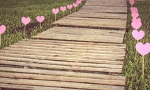 wood, love, path