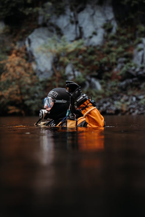 Photo of Person Scuba Diving