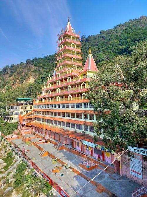 Free stock photo of laxman jhula, rishikesh, tera manzil temple