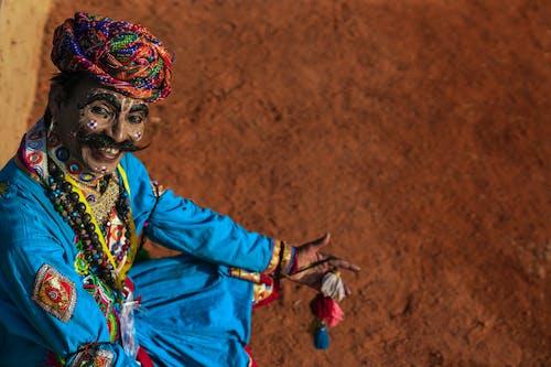 Foto profissional grátis de artista, cara, cheio de cor, Índia