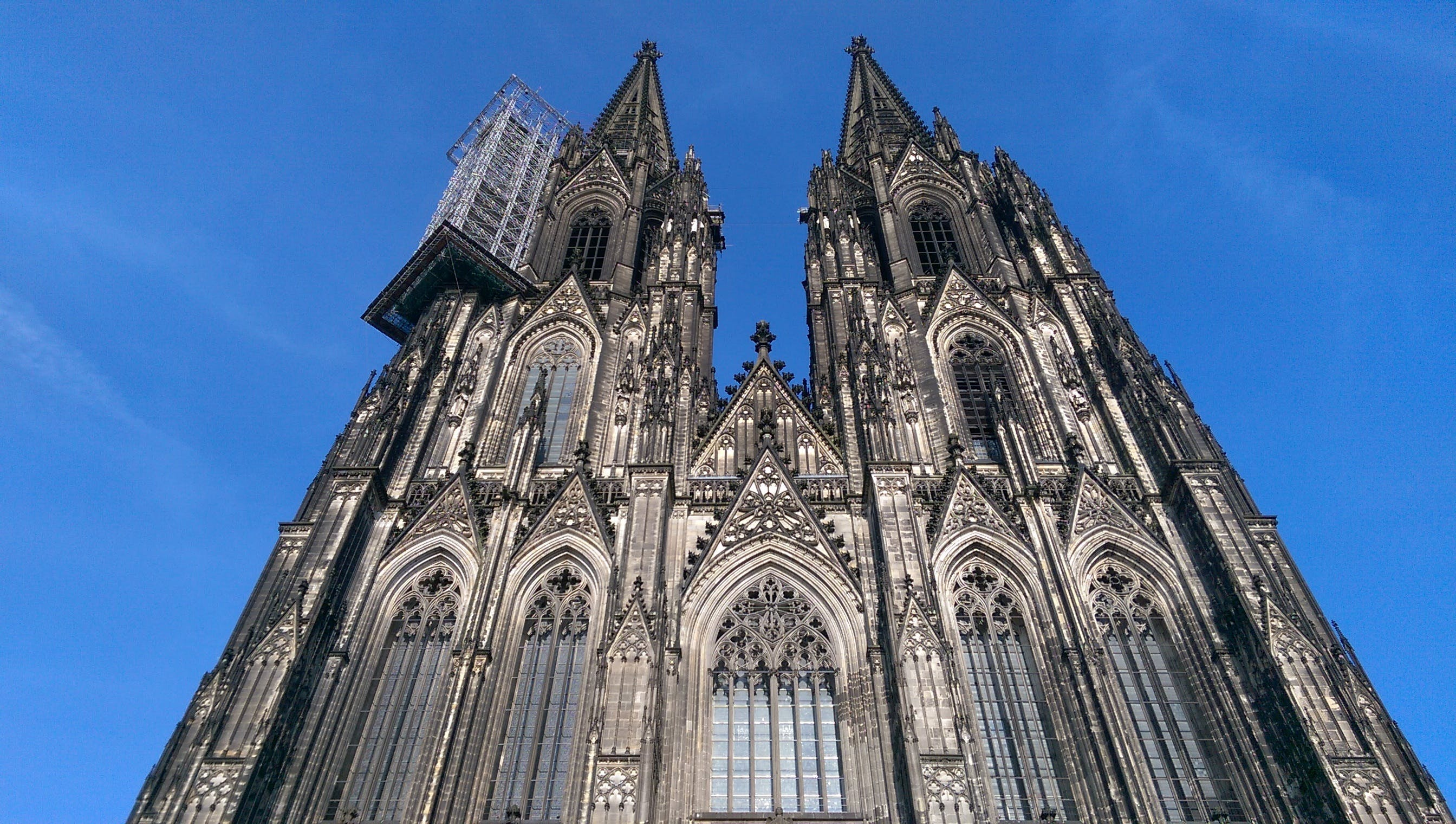 Facade of Cathedral Against Blue Sky