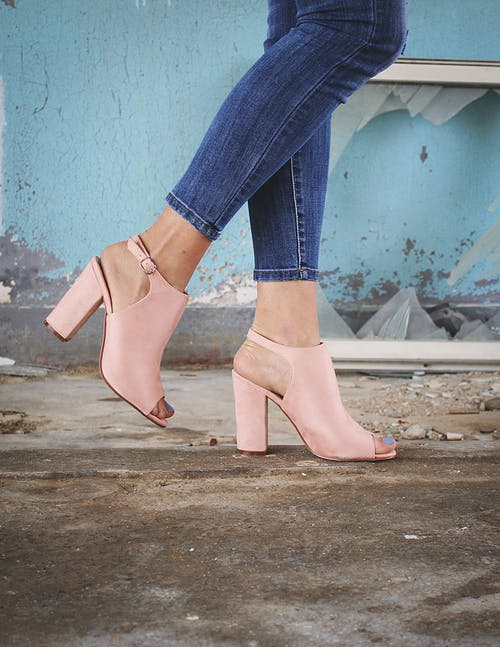 Free stock photo of denim jeans, fashion, footwear, pink