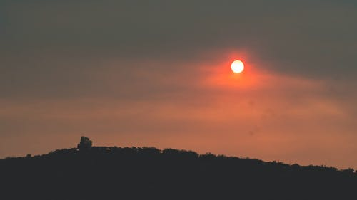 Kostnadsfri bild av apelsin, dimma, dimmig, himmel