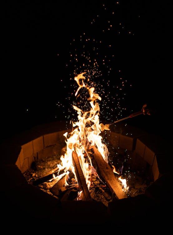 篝火的照片