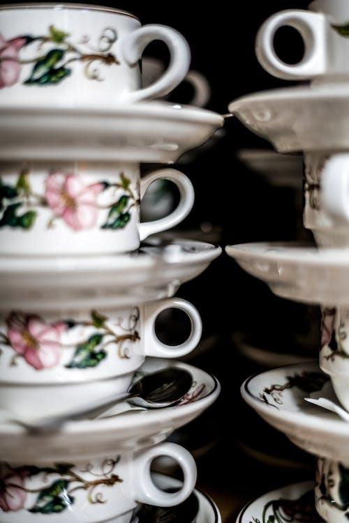 Gratis arkivbilde med keramisk, kopp, porselen, tekopper