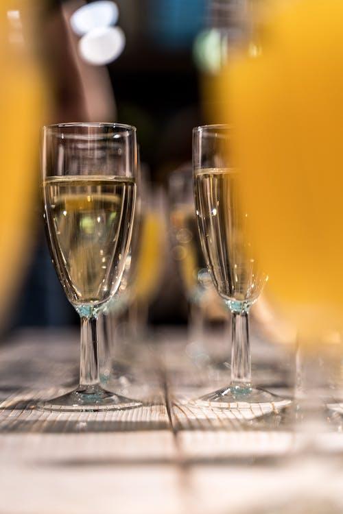 Gratis lagerfoto af Champagneglas