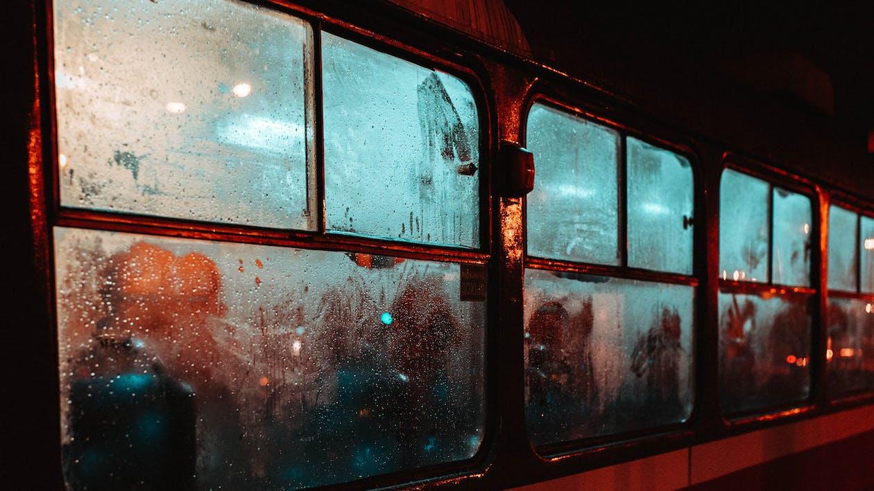 ajoneuvon ikkuna, harjoitella, heijastus