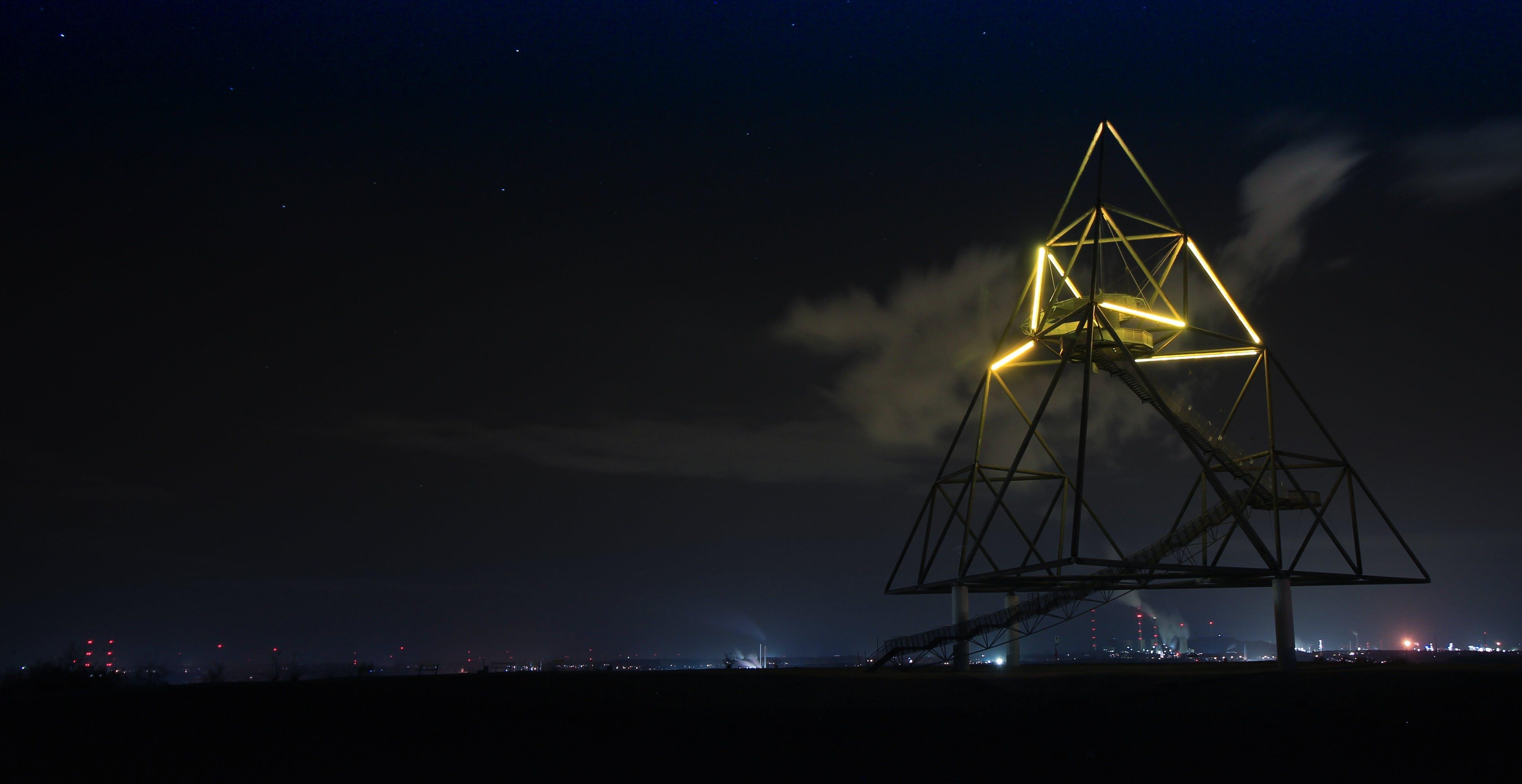 Foto profissional grátis de alvorecer, arte, céu noturno, cidade