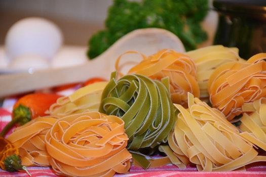 Close Up of Various Pasta