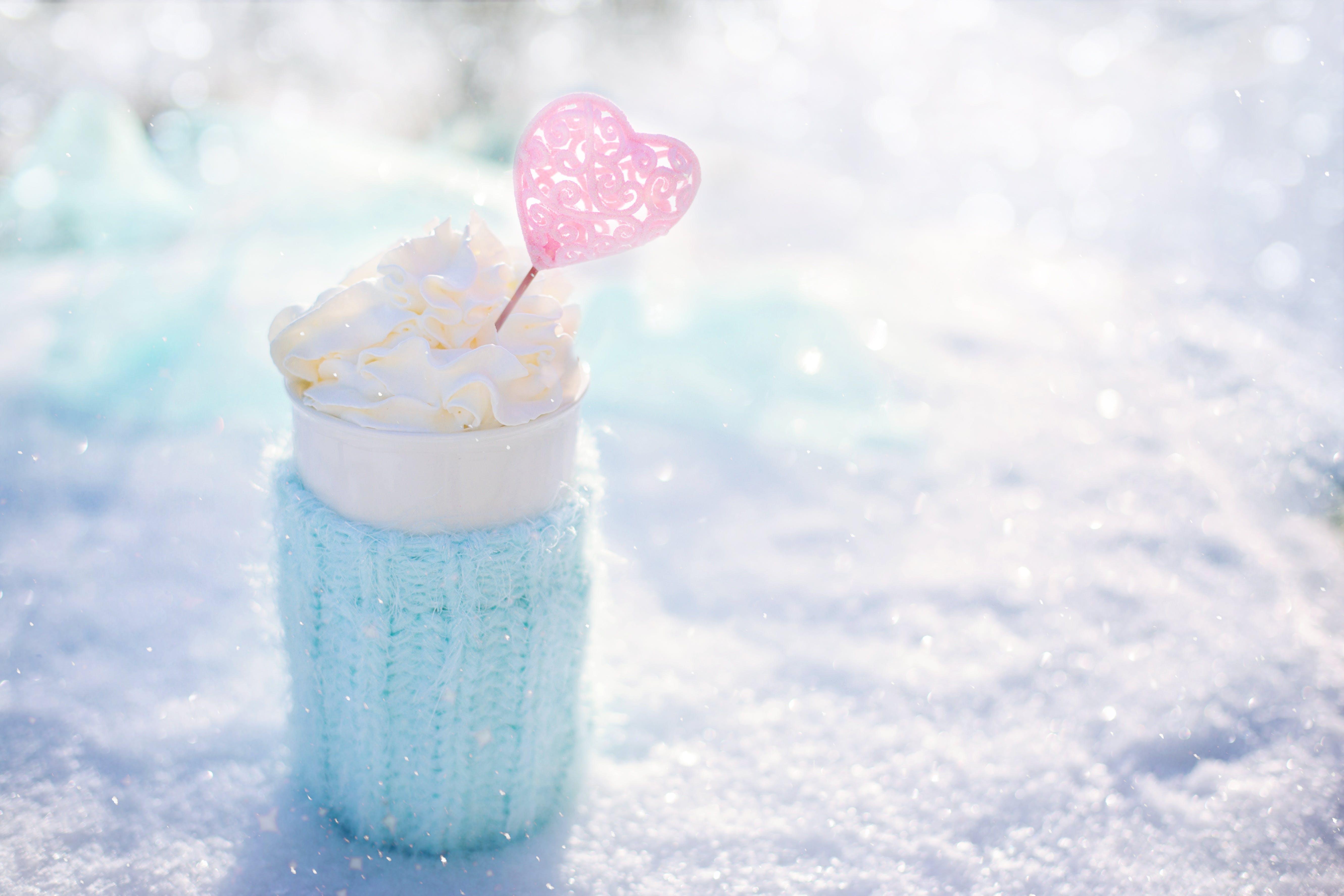 Kostenloses Stock Foto zu essen, kalt, schnee, herz