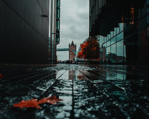 Low Angle Photography Of A Street Between Buildings