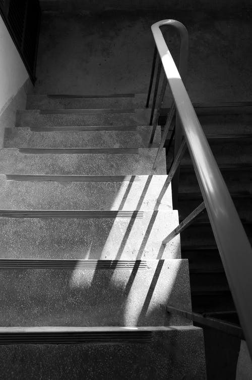Staircase Grayscale Photography