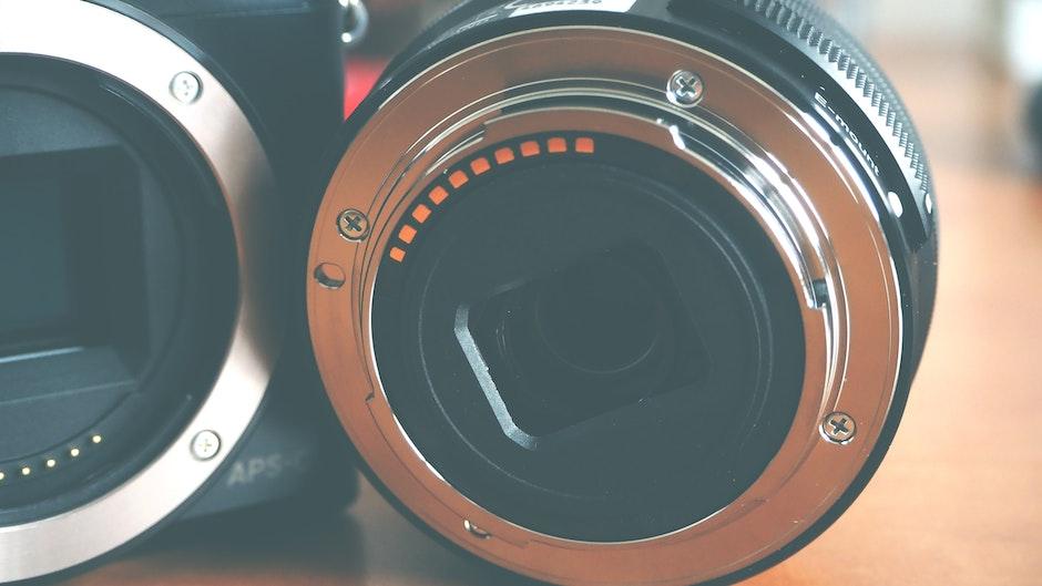 Close-up of Vintage Camera Lens