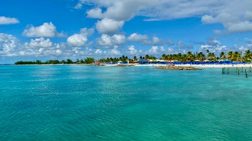 Free stock photo of aqua waters, beach, beach activity, beach huts