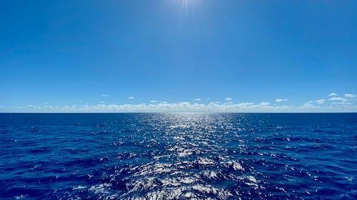 Free stock photo of blue waters, clouds, horizon, north atlantic ocean