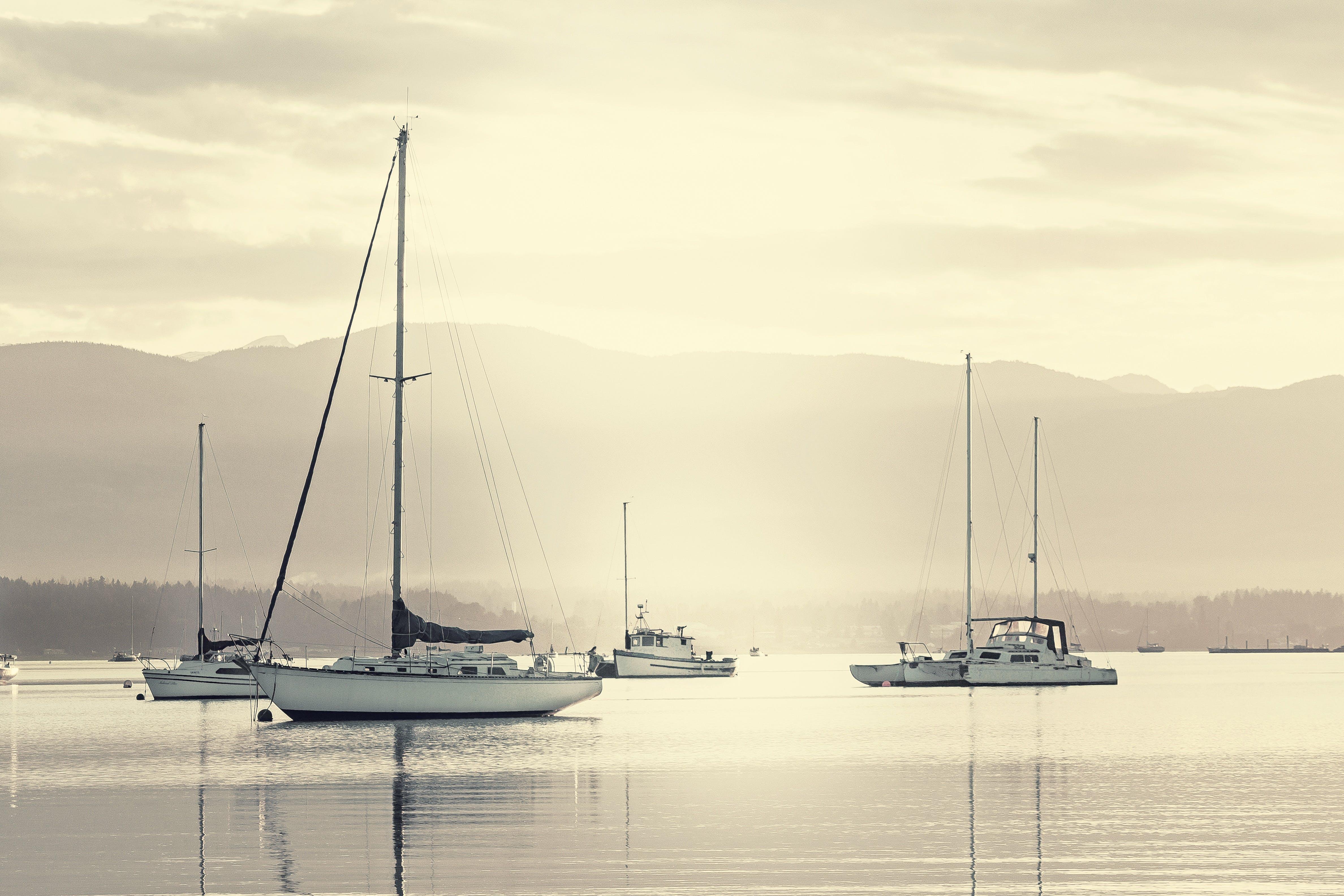 čluny, dopravní systém, jachta