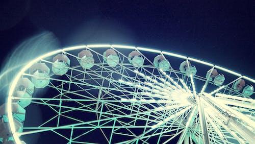 Бесплатное стоковое фото с колесо обозрения, ночная съемка, основные моменты