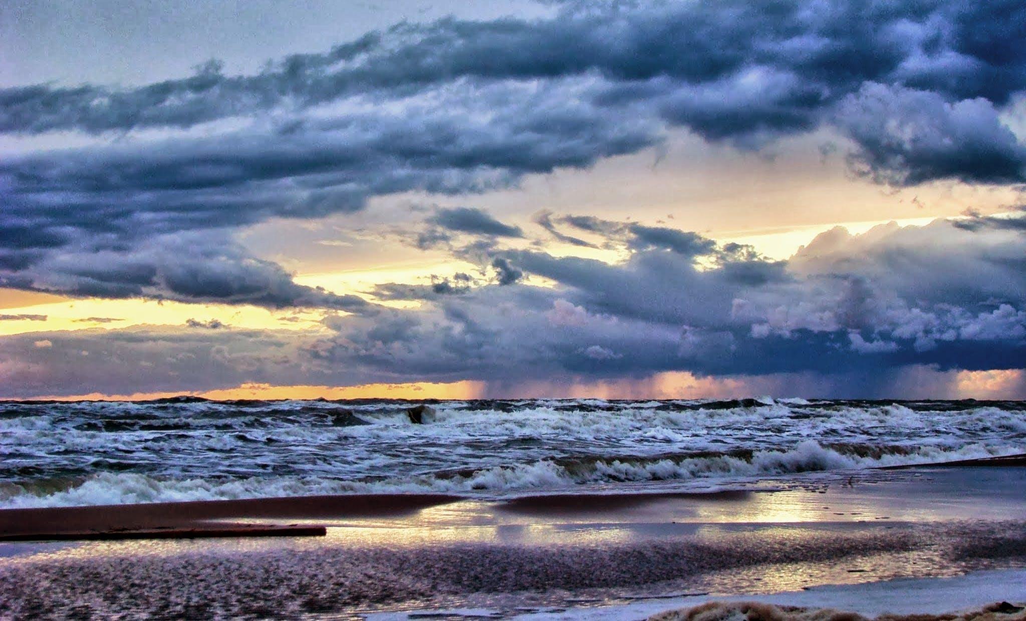 Free stock photo of sea, landscape, sky, sunset