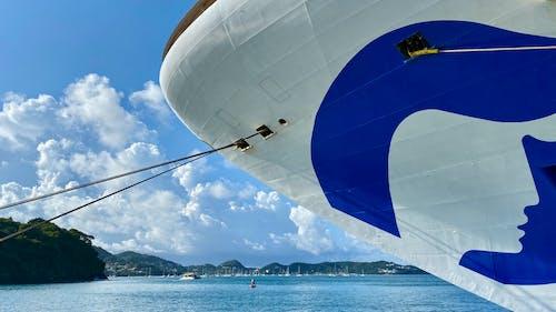 Free stock photo of anchored, blue, boats, caribbean