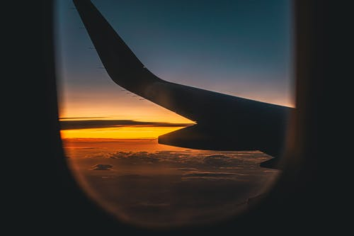 Free stock photo of aeroplane, aeroplanes, airplane window, blue