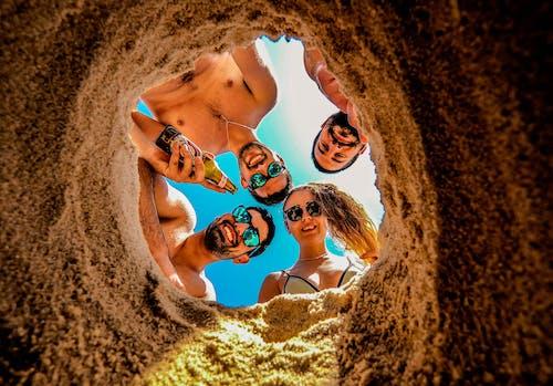 Free stock photo of adventure, beach, beer, blue