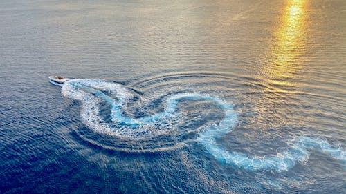 快艇在海上的照片