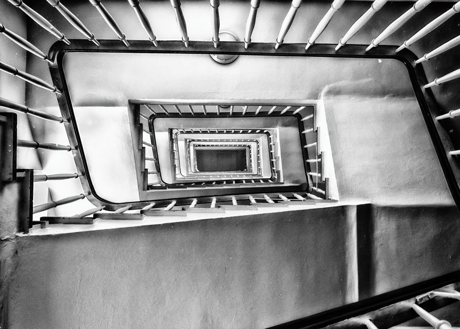 New free stock photo of stairs, light, black-and-white