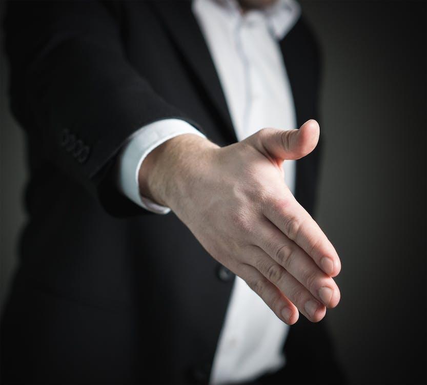 človek, detailný záber, dohoda
