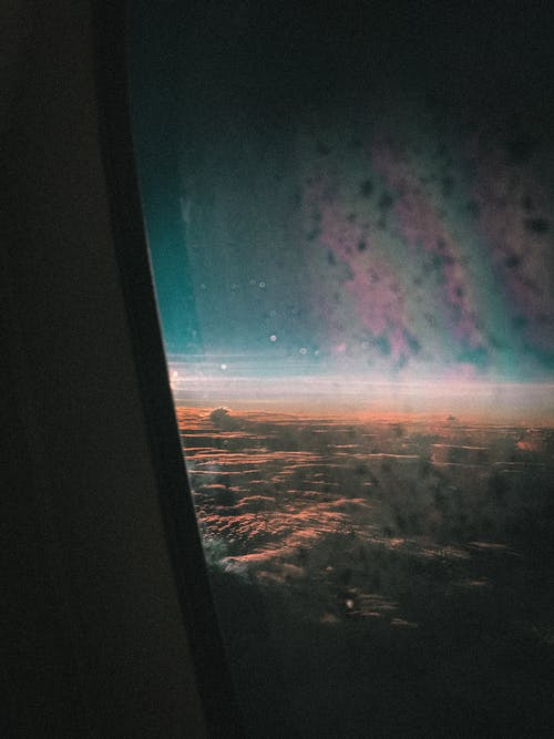Free stock photo of airplane window, atmosphere, flight, frost