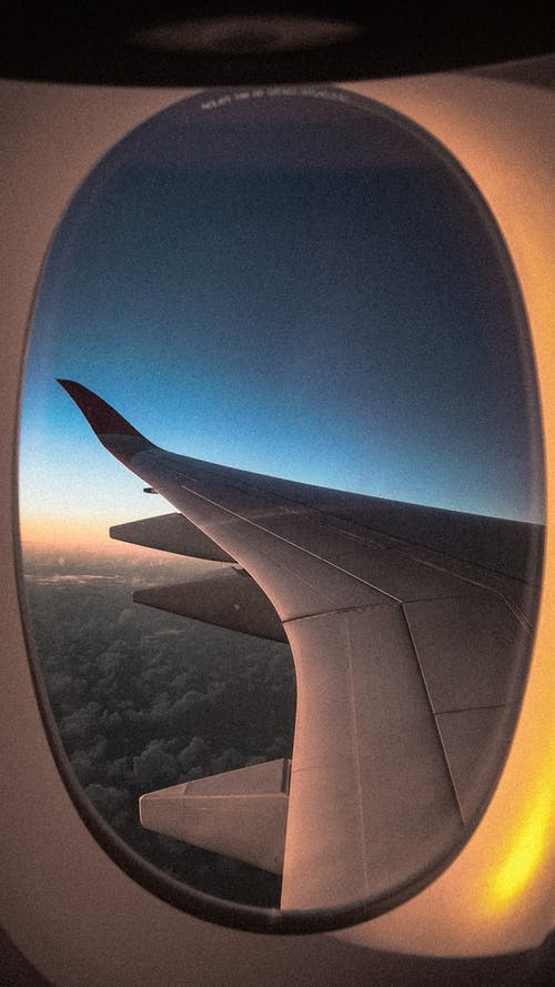 Free stock photo of airplane window, airplane wing, atmosphere, flight