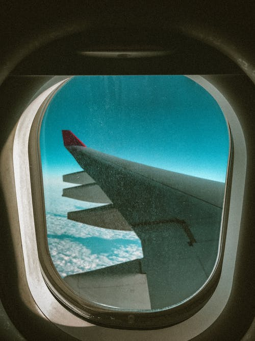Free stock photo of airplane window, atmosphere, blue sky, flight