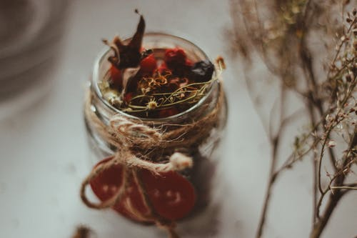 Selective Focus Photo Of Jar Filled With Spices