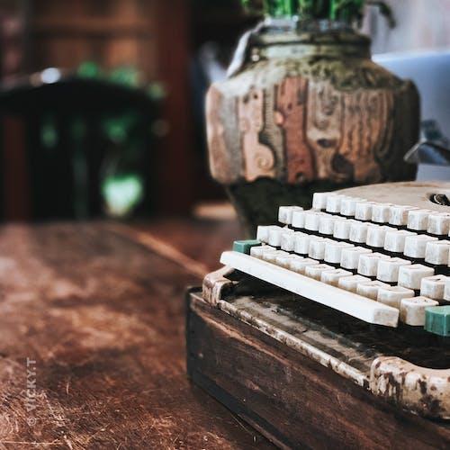 タイプライター, ビンテージ, レトロ, 古い装飾の無料の写真素材