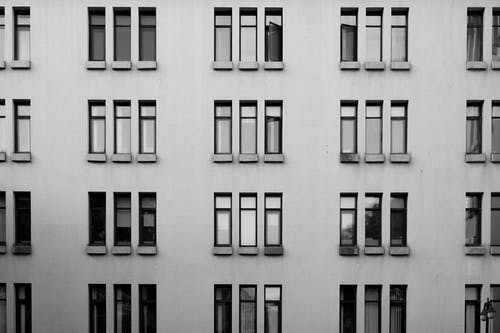 Gray Building with Windows