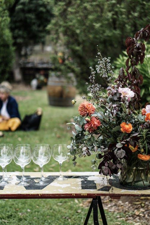 ao ar livre, arranjo de flores, desocupado