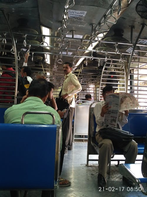Free stock photo of Mumbai local train