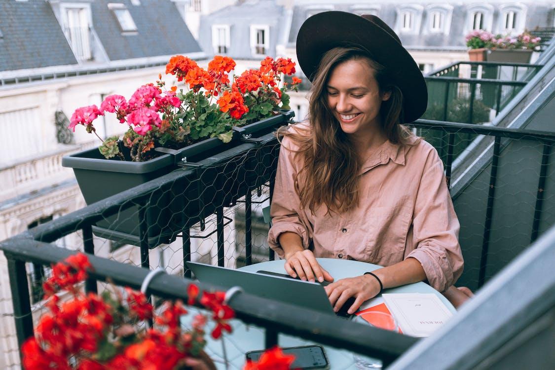 balcone, cappello, carino