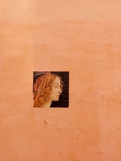 Free stock photo of abstract, art, graffiti, orange background