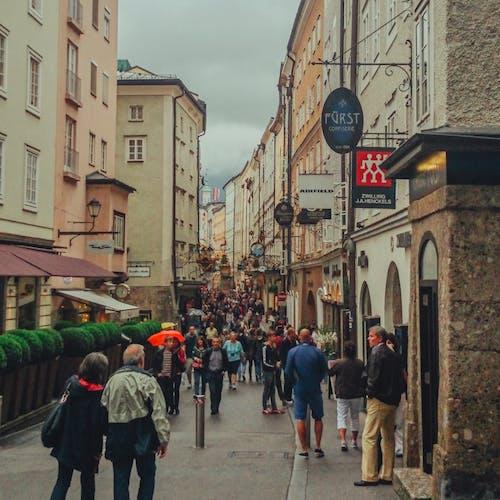 Free stock photo of austria, city, people, salzburg