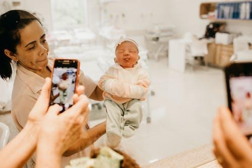 Smiling Newborn Baby