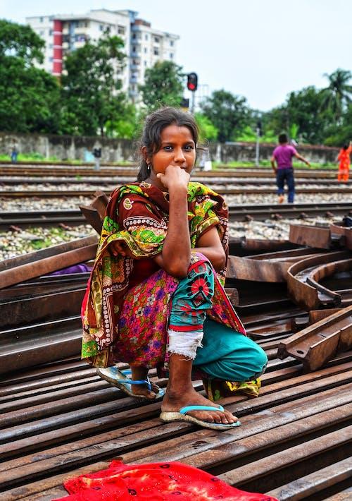 Photo Of Woman On Railway