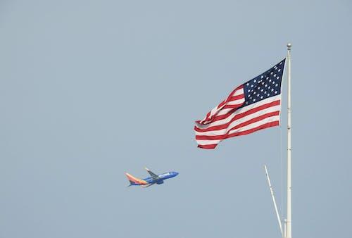คลังภาพถ่ายฟรี ของ ทิศตะวันตกเฉียงใต้, ธง, สหรัฐ, เครื่องบิน