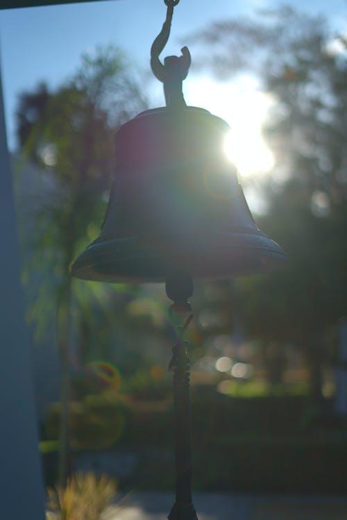 Free stock photo of bell, shine, silhouette, sun glare