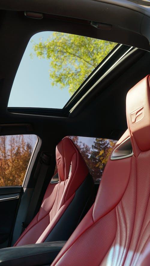 Red Car Seat Inside A Luxury Car